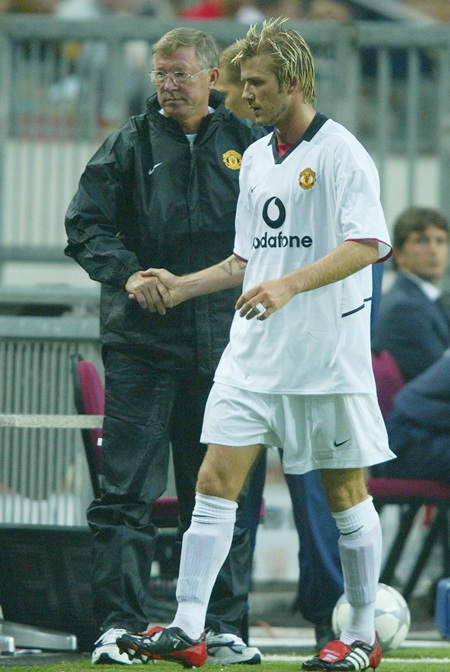 David Beckham and Alex Ferguson