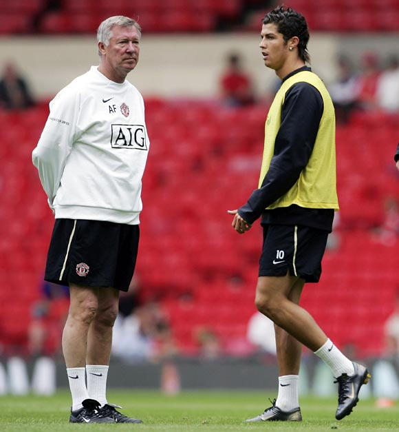 Alex Ferguson (left) with Cristiano Ronaldo