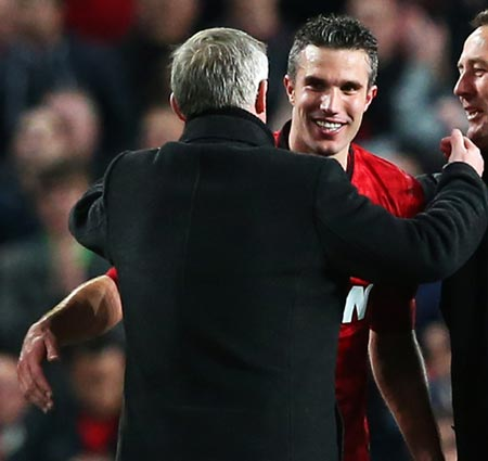 Alex Ferguson (left) with Robin van Persie