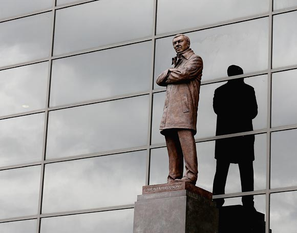 The bronze statue of Sir Alex Ferguson