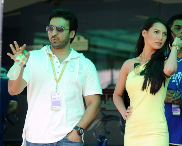 Raj Kundra with Rochelle Rao