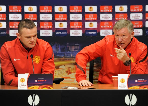 Alex Ferguson (right) and Wayne Rooney