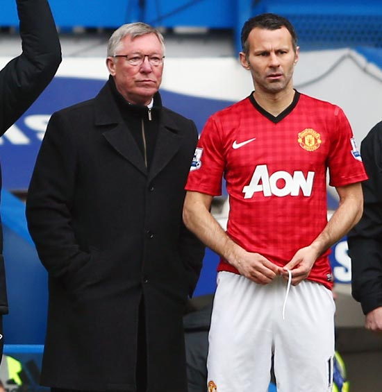 Alex Ferguson (left) with Ryan Giggs