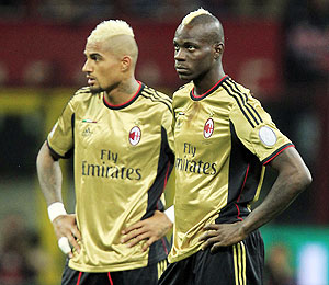 Kevin-Prince Boateng and Mario Balotelli