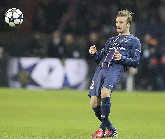 Paris St Germain's David Beckham