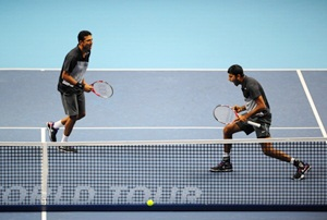 Rediff Sports - Cricket, Indian hockey, Tennis, Football, Chess, Golf - Rome Masters: Bhupathi-Bopanna advance, Paes-Melzer out
