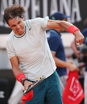 Rediff Sports - Cricket, Indian hockey, Tennis, Football, Chess, Golf - Emotional Nadal reaches Rome final