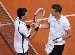 Rediff Sports - Cricket, Indian hockey, Tennis, Football, Chess, Golf - Berdych stuns Djokovic to enter Rome Masters semis