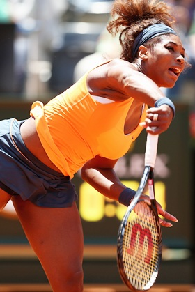 Rediff Sports - Cricket, Indian hockey, Tennis, Football, Chess, Golf - Serena extends winning streak to reach Rome final