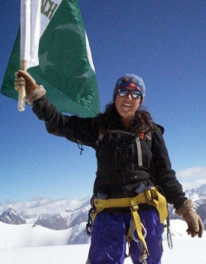 Rediff Sports - Cricket, Indian hockey, Tennis, Football, Chess, Golf - Samina becomes first Pakistani woman to scale Mt Everest