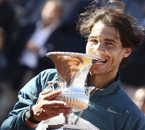 Rediff Sports - Cricket, Indian hockey, Tennis, Football, Chess, Golf - Nadal and Williams win easily in Rome