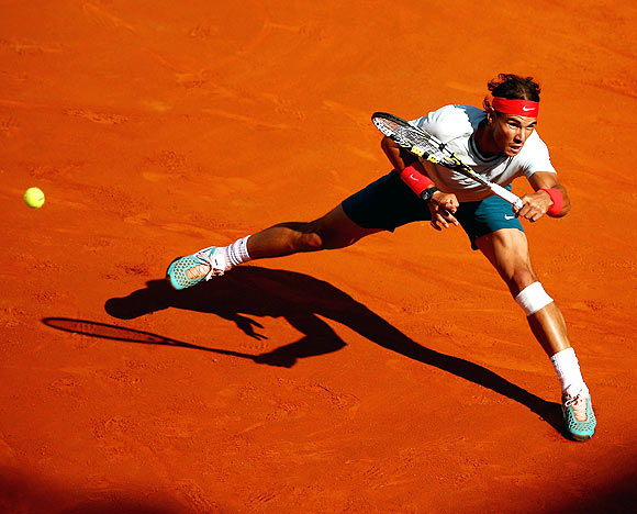 Rediff Sports - Cricket, Indian hockey, Tennis, Football, Chess, Golf - Nadal back in old routine and looking invincible