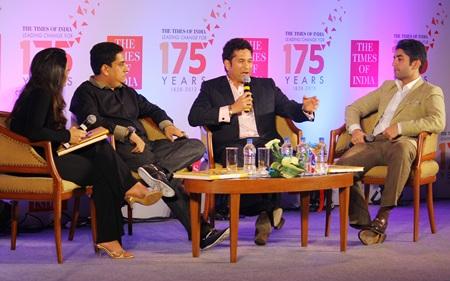 Sachin Tendulkar speaks during the book launch