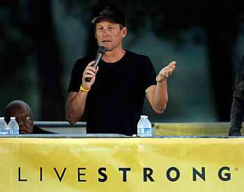 Lance Armstrong at a Livestrong conference