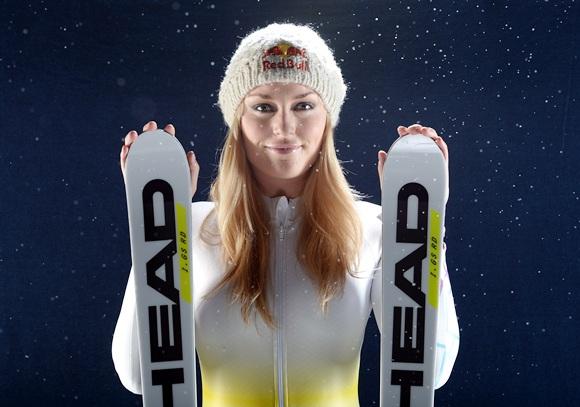 Alpine skier Lindsey Vonn poses