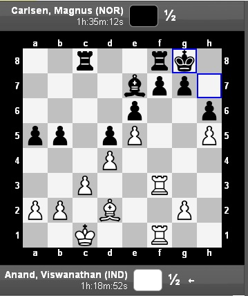Moves: Anand vs Carlsen, Game 2, World Chess Championship