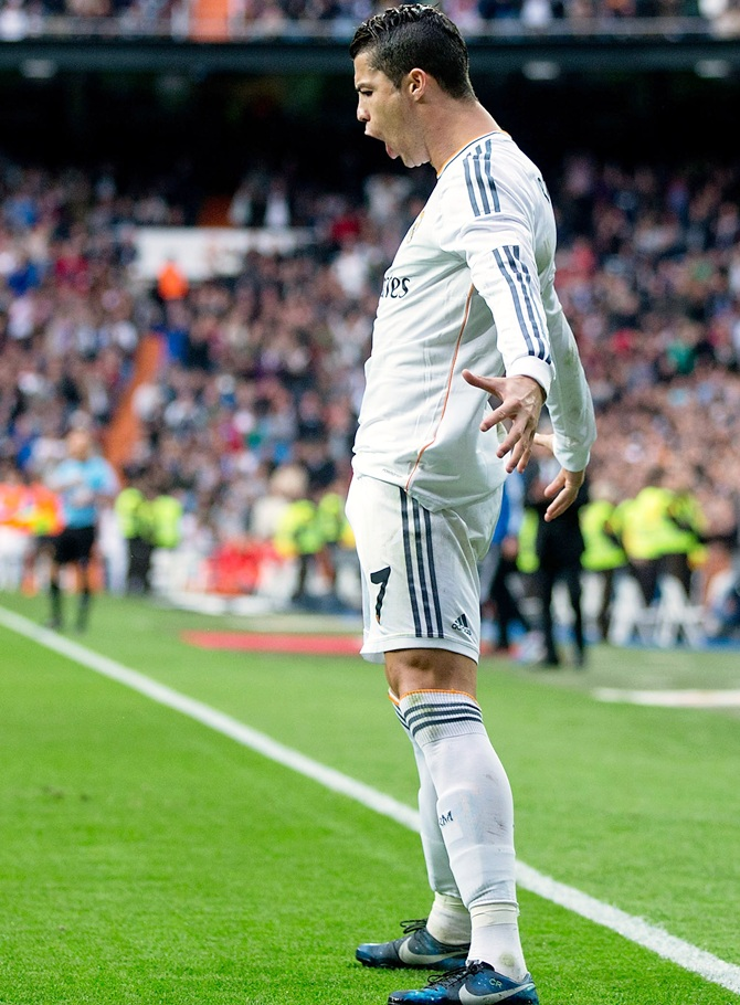 Cristiano Ronaldo of Real Madrid CF celebrates