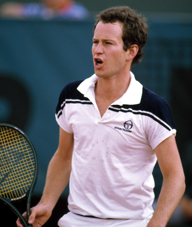 American tennis player John McEnroe