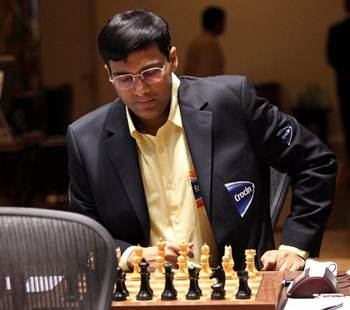 Viswanathan Anand during Game 4