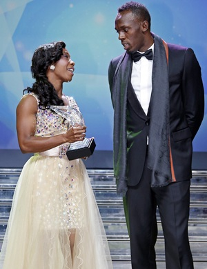 Bolt, Fraser-Pryce win 2013 World Athlete Awards