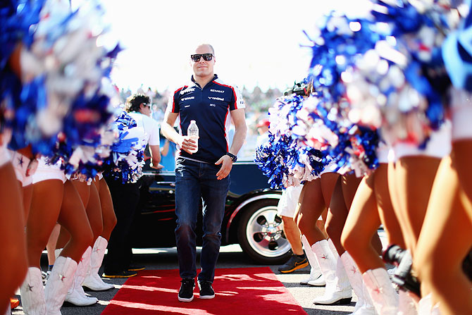 Valtteri Bottas of Finland and Williams attends the drivers parade before the United States Formula One Grand Prix at Circuit of The Americas in Austin, Texas on Sunday