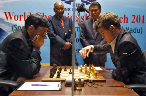 Viswanathan Anand and Magnus Carlsen