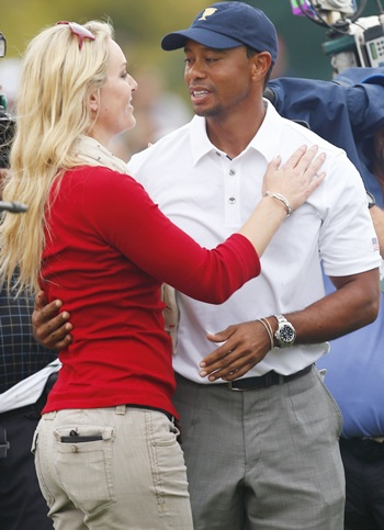Tiger Woods with his girlfriend Lindsey Vonn