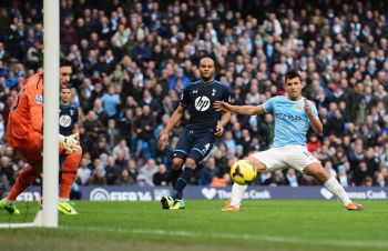 Man City put six past hapless Spurs, United held