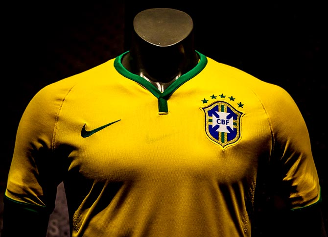 Brazil's jersey for the 2014 FIFA World Cup