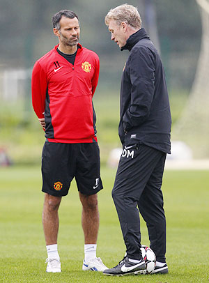Ryan Giggs with David Moyes