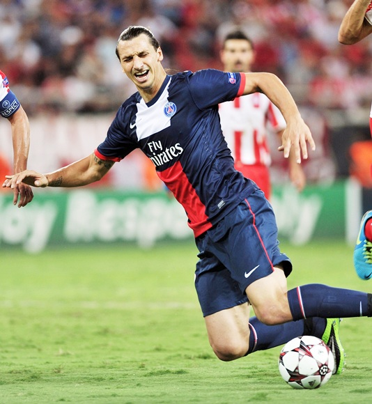 Zlatan Ibrahimovic of Paris Saint-Germain FC