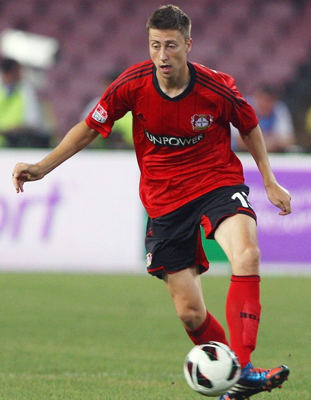 Jens Hegeler of Bayer Leverkusen