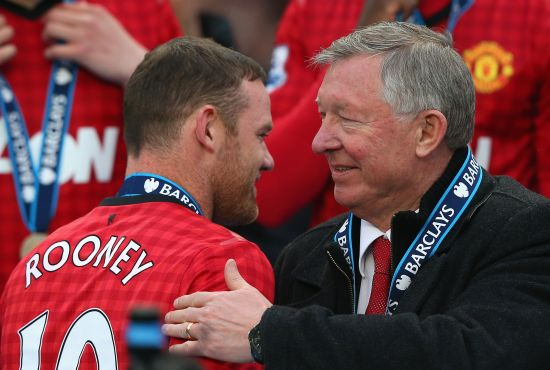 Rooney and Alex Ferguson