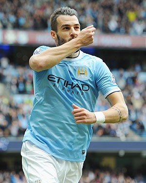 EPL: Negredo, Aguero score as City beat Everton