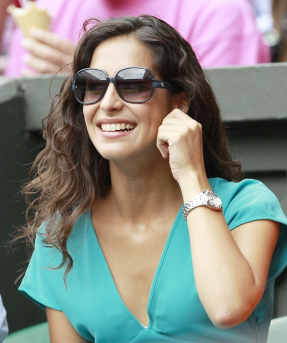 The girlfriend of Rafael Nadal of Spain Maria Francisca Perello