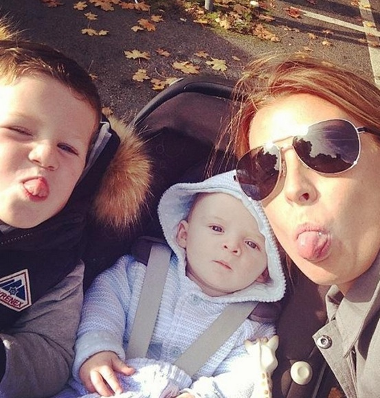 Coleen Rooney with her sons Kai and Klay