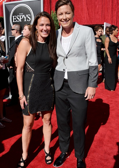 Professional soccer player Abby Wambach (right) and Sarah Huffman