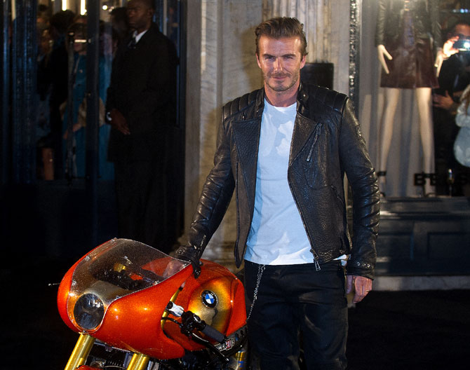 David Beckham attends the opening of Belstaff House