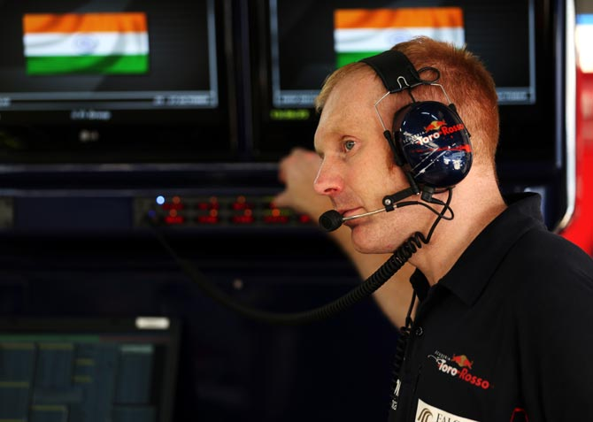 Toro Rosso race engineer Phil Charles