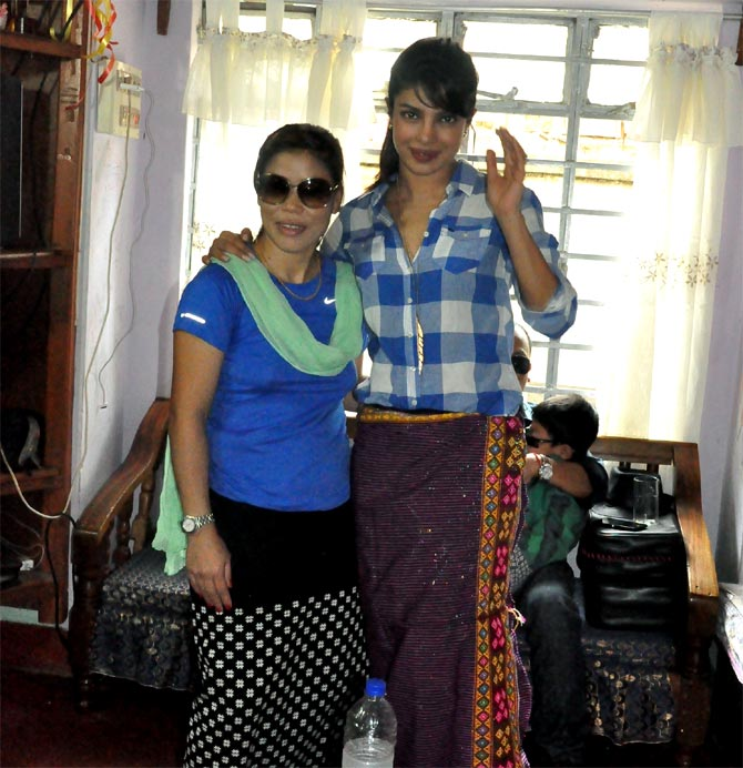 MC Mary Kom with Priyanka Chopra