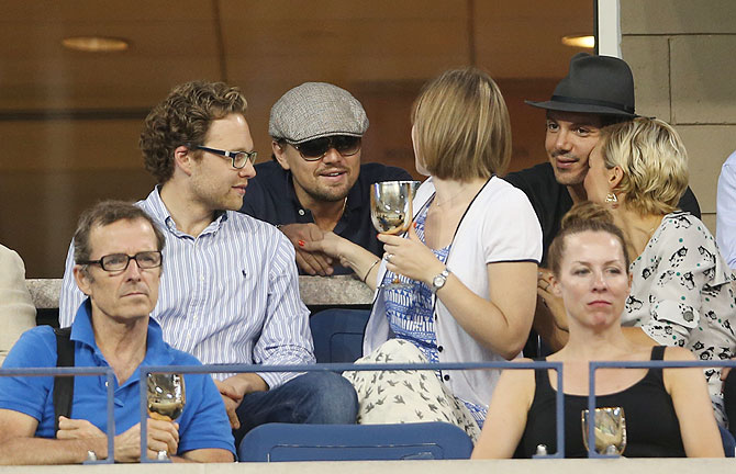 Friends 'Ross', DiCaprio watch as Serena storms into US Open semis