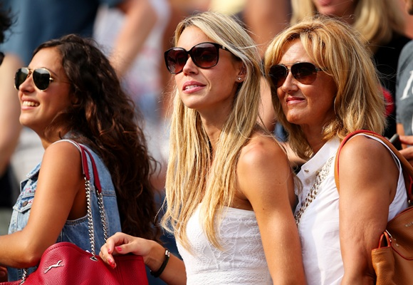 Nadal's girlfriend Xisca Perello, sister Isabel and mother Ana Maria Parera