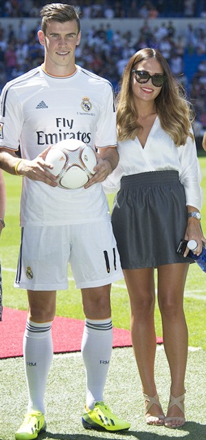 Gareth Bale with girlfriend Emma Rhys Jones