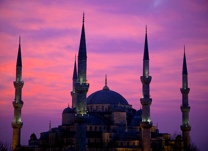 The Blue Mosque in the Sultanahmet area of Istanbul