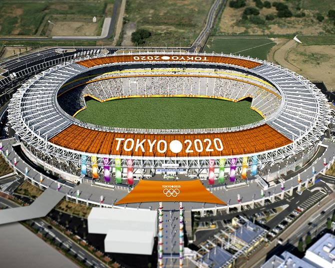 The Tokyo Stadium, one of the proposed Olympic stadiums for the 2020 Summer Olympic games, is seen in this computer-generated file handout image provided by the Tokyo 2020 Bid Committee