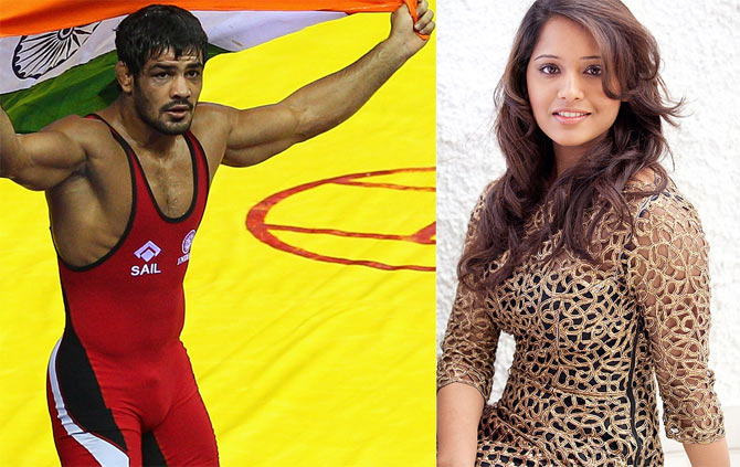 Wrestler Sushil Kumar and squash player Dipika Pallikal
