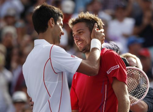 Novak Djokovic and Stanislas Wawrinka