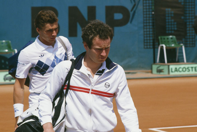 John McEnroe (left) and Ivan Lendl