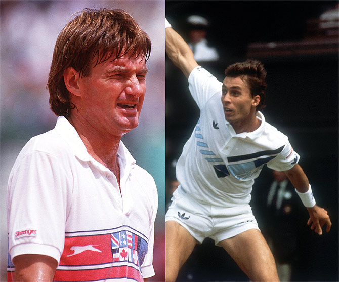 Jimmy Connors and Ivan Lendl