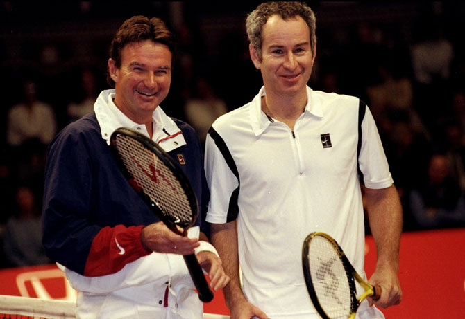 Jimmy Connors and John McEnroe of the USA